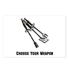 Choose Your Weapon Grill Postcards (Package of 8)