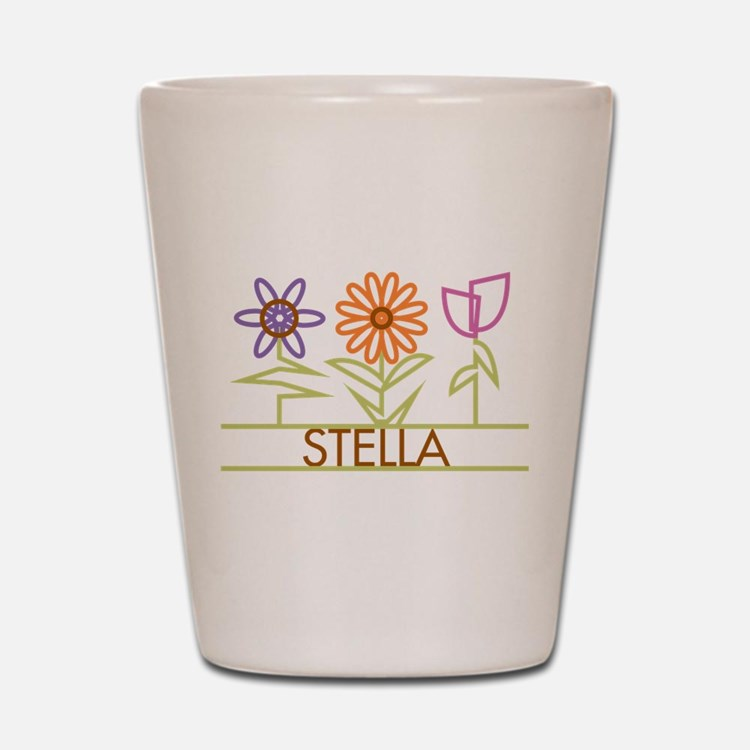 Stella with cute flowers Shot Glass