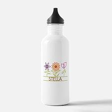 Stella with cute flowers Water Bottle