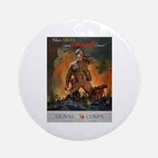 Army Skill and Courage Ornament (Round)