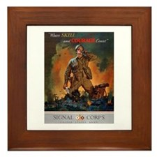 Army Skill and Courage Framed Tile
