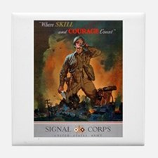 Army Skill and Courage Tile Coaster