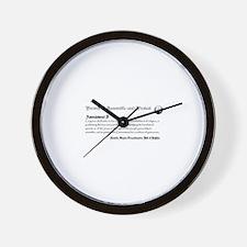 Unique 1st amendment Wall Clock