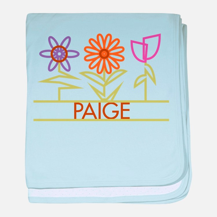 Paige with cute flowers baby blanket