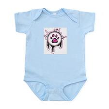 Pink Paw Infant Bodysuit