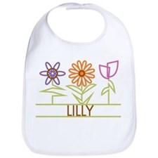 Lilly with cute flowers Bib