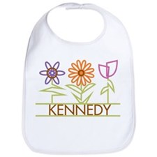Kennedy with cute flowers Bib