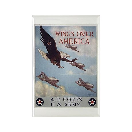 Wings Over America Air Corps Rectangle Magnet