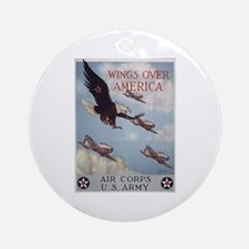 Wings Over America Air Corps Ornament (Round)