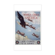 Wings Over America Air Corps Rectangle Decal