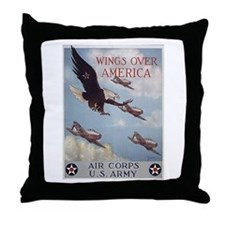 Wings Over America Air Corps Throw Pillow
