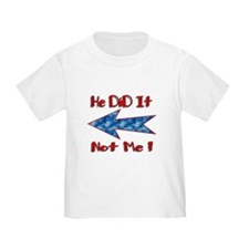 Blue Left Arrow (Did it) T-Shirt