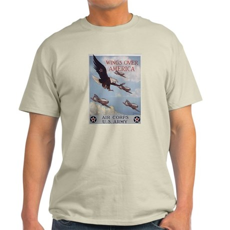 Wings Over America Air Corps Ash Grey T-Shirt