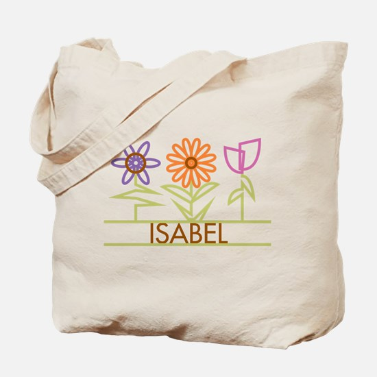 Isabel with cute flowers Tote Bag