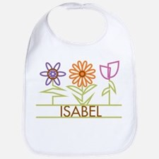 Isabel with cute flowers Bib