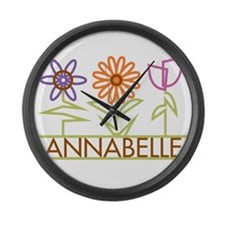 Annabelle with cute flowers Large Wall Clock