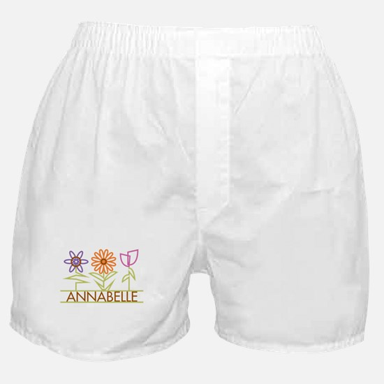 Annabelle with cute flowers Boxer Shorts