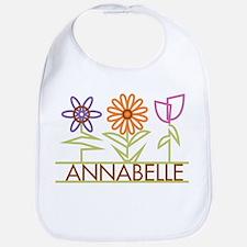 Annabelle with cute flowers Bib