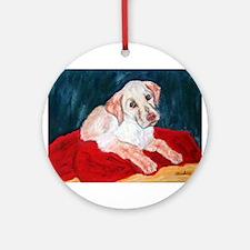 Yellow Lab Puppy Ornament (Round)