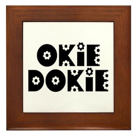 OkieDokie_Do_Black Framed Tile