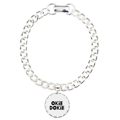 OkieDokie_Do_Black Charm Bracelet, One Charm