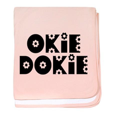 OkieDokie_Do_Black baby blanket