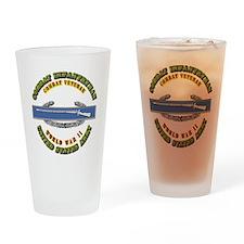 Army - CIB - 1st Award - WWII Drinking Glass