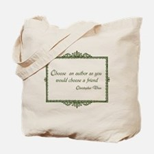 Books as Friends (Green) Tote Bag