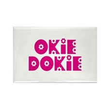 OkieDokie_La_Pink Rectangle Magnet