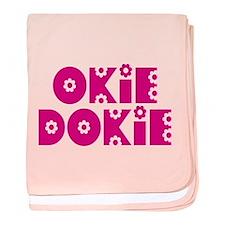 OkieDokie_La_Pink baby blanket