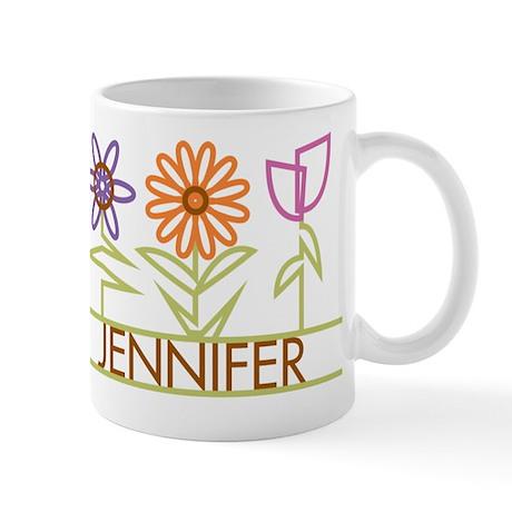 Jennifer with cute flowers Mug