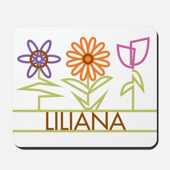 Liliana with cute flowers Mousepad
