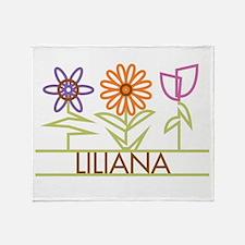 Liliana with cute flowers Throw Blanket