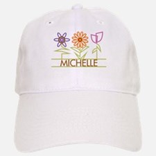 Michelle with cute flowers Baseball Baseball Cap