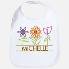 Michelle with cute flowers Bib