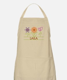 Laila with cute flowers Apron