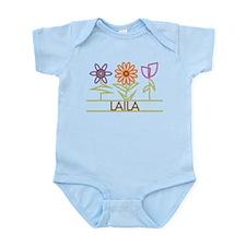 Laila with cute flowers Infant Bodysuit