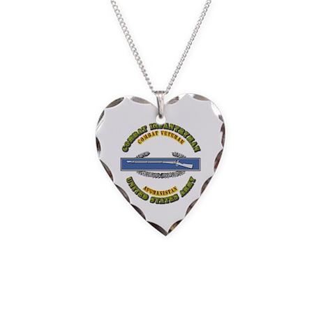 Army - CIB - 1st Award - Afghanistan Necklace Hear