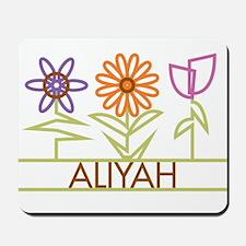 Aliyah with cute flowers Mousepad