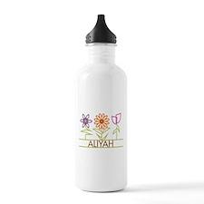 Aliyah with cute flowers Water Bottle