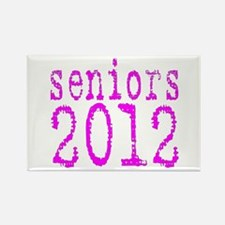 2012 Typo Pink Rectangle Magnet