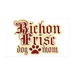 Bichon Frise Mom 38.5 x 24.5 Wall Peel