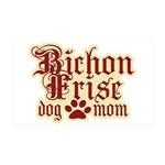 Bichon Frise Mom 38.5 x 24.5 Wall Peel