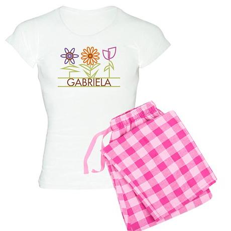 Gabriela with cute flowers Women's Light Pajamas