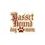 Basset Hound Mom 38.5 x 24.5 Wall Peel