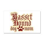 Basset Hound Mom Car Magnet 20 x 12
