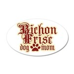 Bichon Frise Mom 38.5 x 24.5 Oval Wall Peel