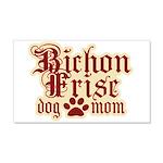 Bichon Frise Mom 22x14 Wall Peel