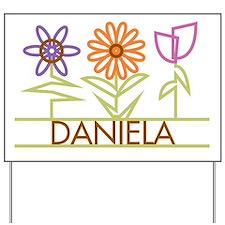 Daniela with cute flowers Yard Sign