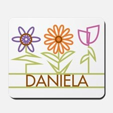 Daniela with cute flowers Mousepad